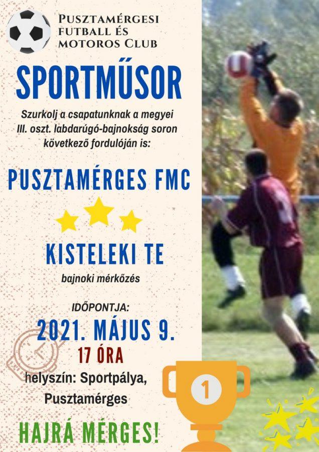 Pusztamérges FMC - Kisteleki TE @ Sportpálya