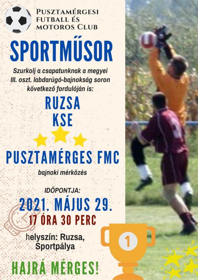 Ruzsa KSE - Pusztamérges FMC