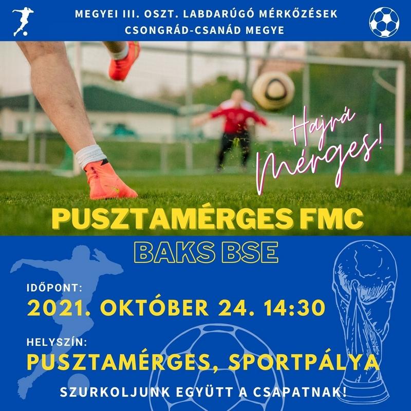 Pusztamérges FMC - Baks BSE @ sportpálya